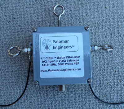 50:200 (4:1) CUBE™ Balun, 1.8-31 MHz, 5KW (choose top stud/eyebolt output) - FREE SHIPPING
