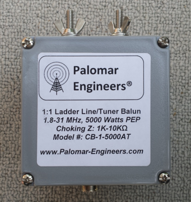 50:50 (1:1) CUBE™ Ladder line to Coax Balun, 1.8-61 MHz, 5 KW, G5RV/ZS6BKW