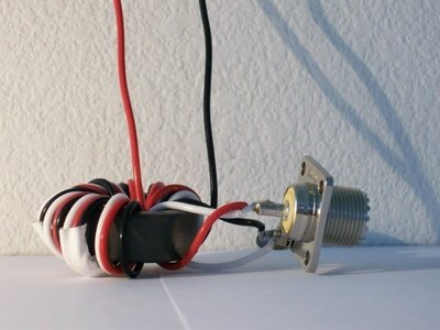 50:450 ohm (9:1) Balun or Unun Core Kit, 1.8-30 MHz, 250 watts PEP, end fed, T2FD antenna