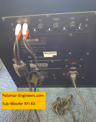 Home Theater System RFI Kit for AC Powered Sub-Woofers Only - 5 filters