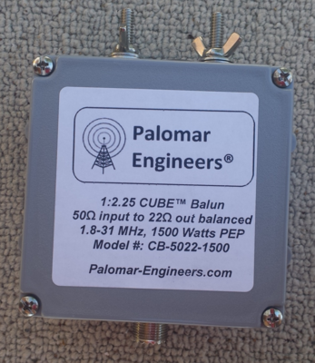 50:22 ohm (1:2.25) CUBE™ Balun - 1500 Watts, 1.8-31 MHz