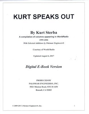 Kurt Speaks Out  - Digital PDF Version - Download Now!