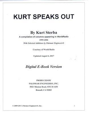 Kurt Speaks Out  - Digital PDF Version - Download Now!
