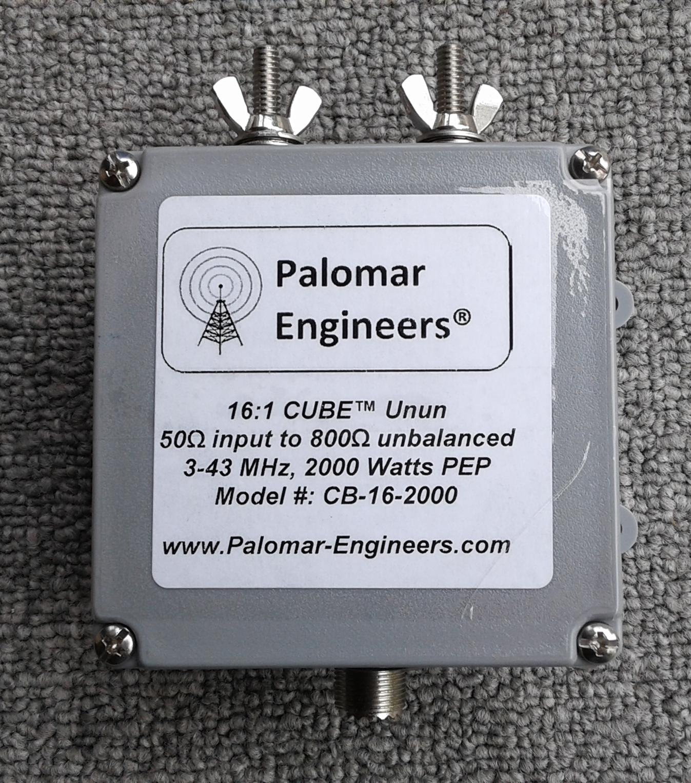 50:800 ohm (16:1) CUBE™ Balun, 3-43 MHz, 2KW PEP CB-16-2000