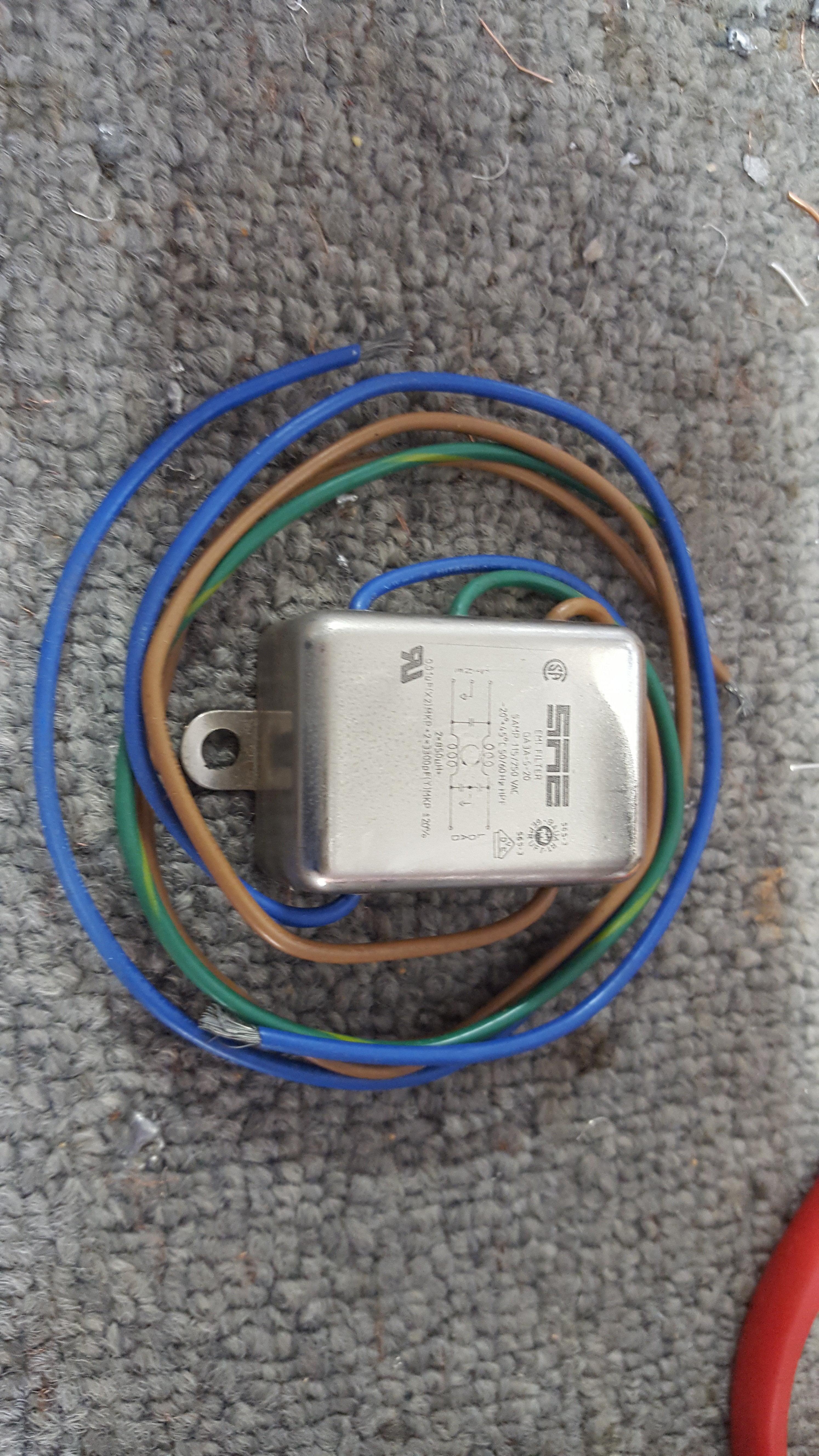120/240 Volt AC Differential RFI Filter - 5 Amps RFI-DF-5