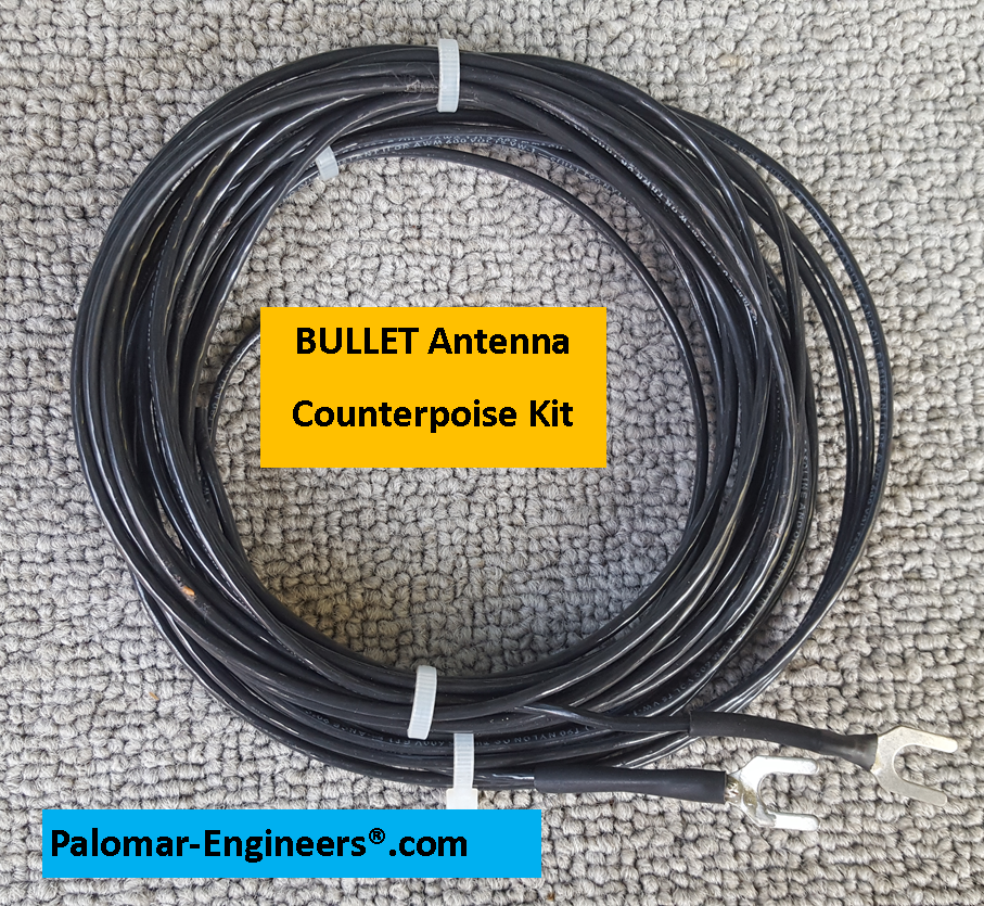 Bullet End Fed Senior Antenna System - 97' Antenna (80-6 meters),  Coax Noise Filter, Counterpoise Kit - FREE Ship - 1500 Watt PEP