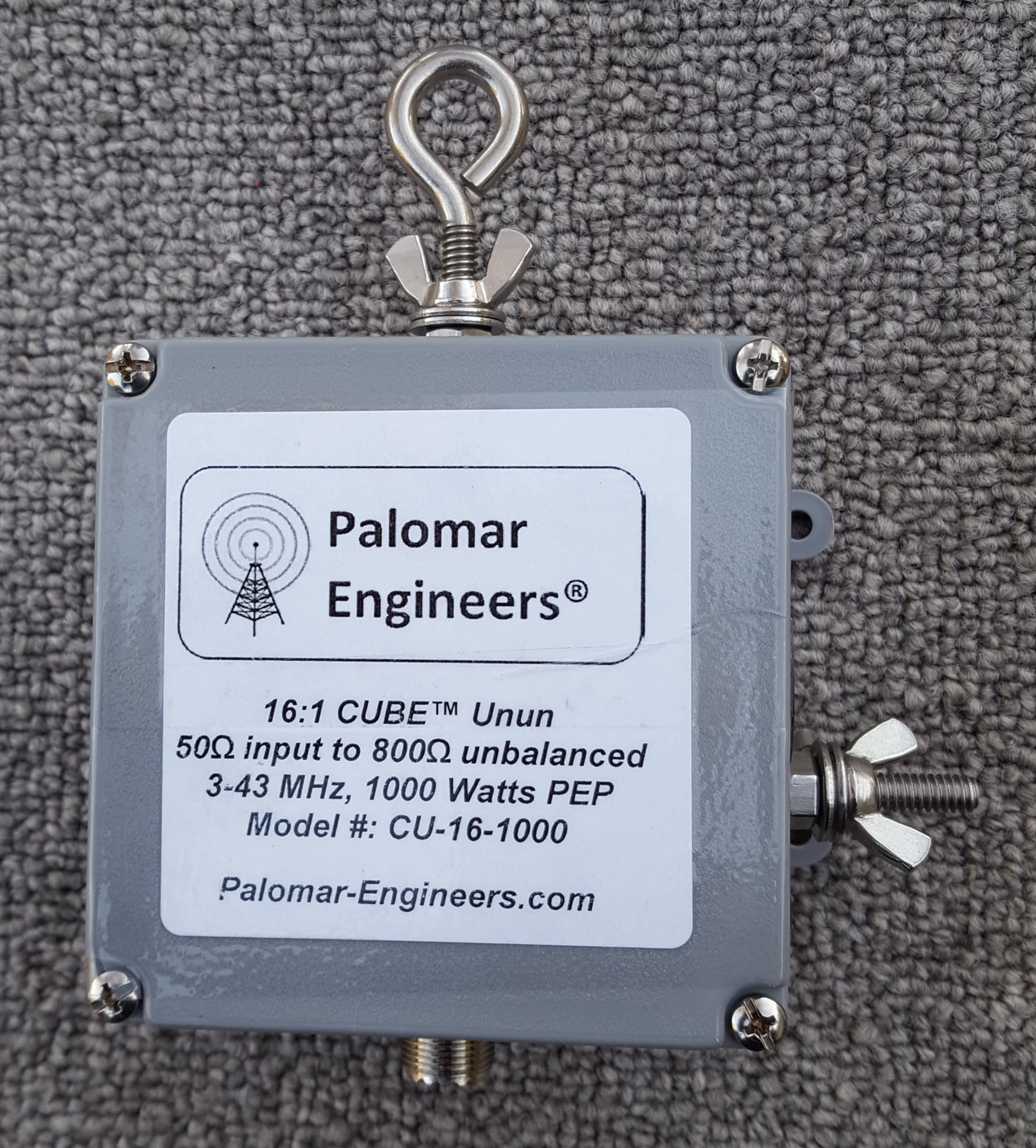 50:800 ohm (16:1) CUBE™ Balun/Unun 1.8-31 MHz Balun - 1KW PEP CB-16-1000