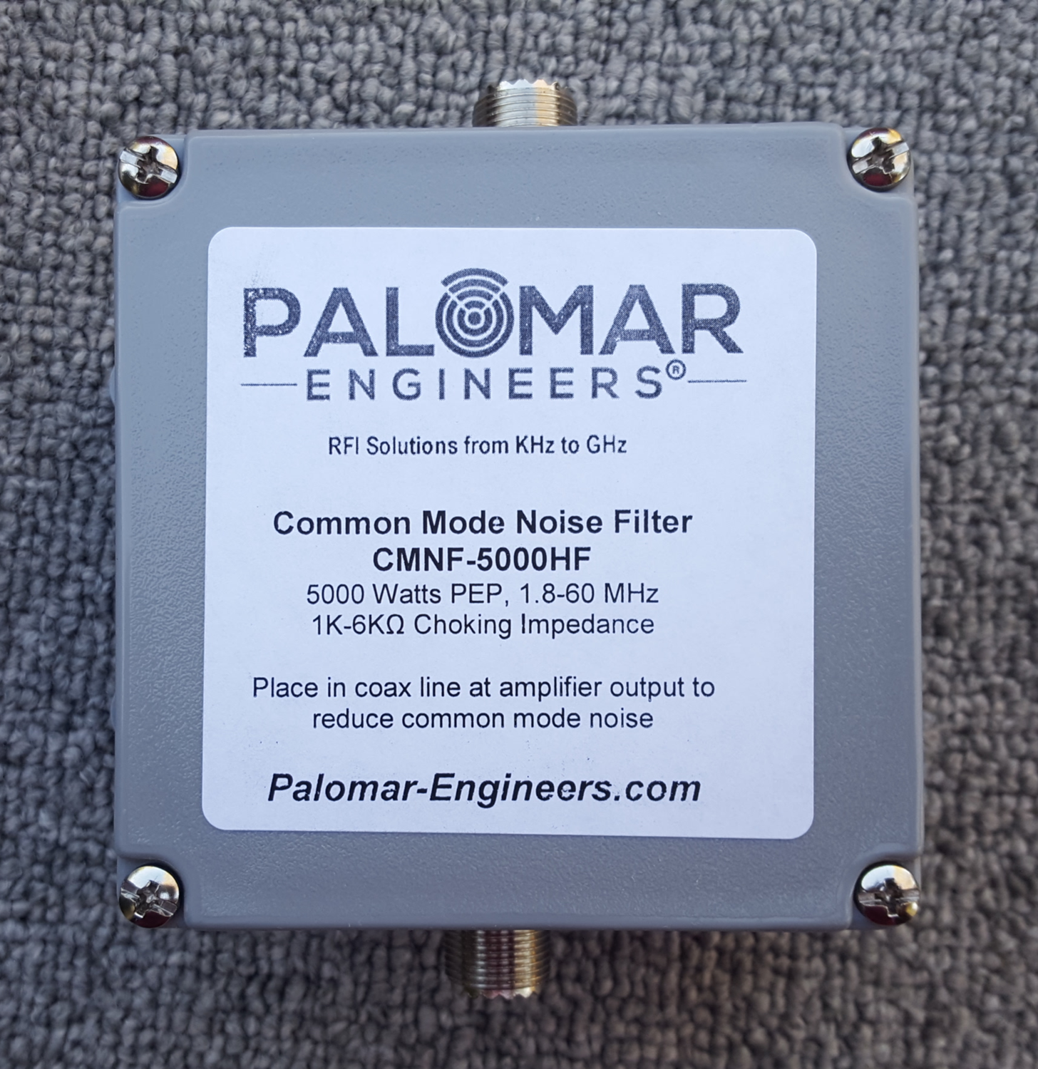 Coax Common Mode Noise Filter - 5000 Watts, 1.8-60 MHz