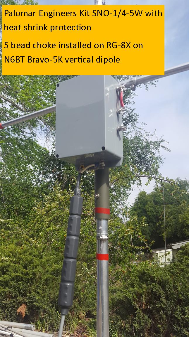 "1//4/""//6mm cable RG58//8X//LMR240 Palomar Engineers Snap On RF Choke//Isolator 10"