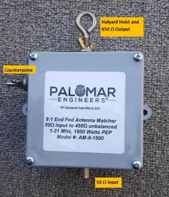 End Fed Antenna Matcher (9:1) CUBE™ Unun, 1.5KW - .6-60 MHz