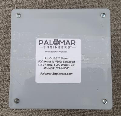 50:450 ohm (9:1) CUBE™ Balun, .5-65 MHz, 3 KW, Ladder Line, ZEPP, T2FD