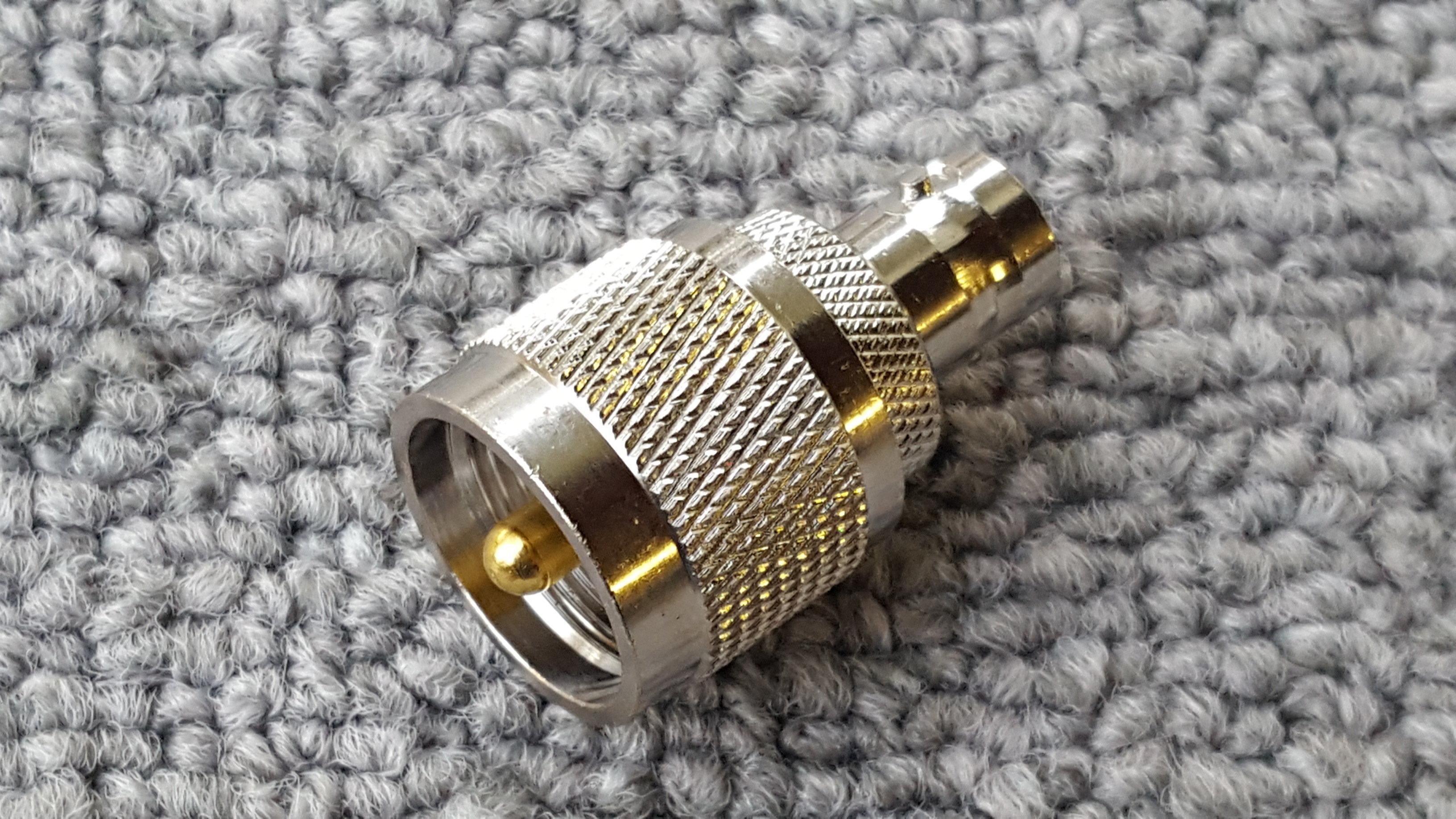 UHF PL259 to BNC Female Jack Adapter UHFMBNCF