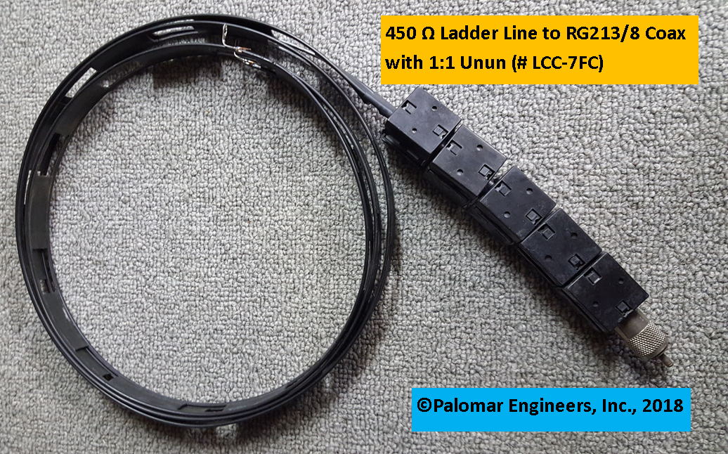 Ladder Line to Coax Interface Cable - G5RV, ZEPP, ZS6BKW, Loop Antennas