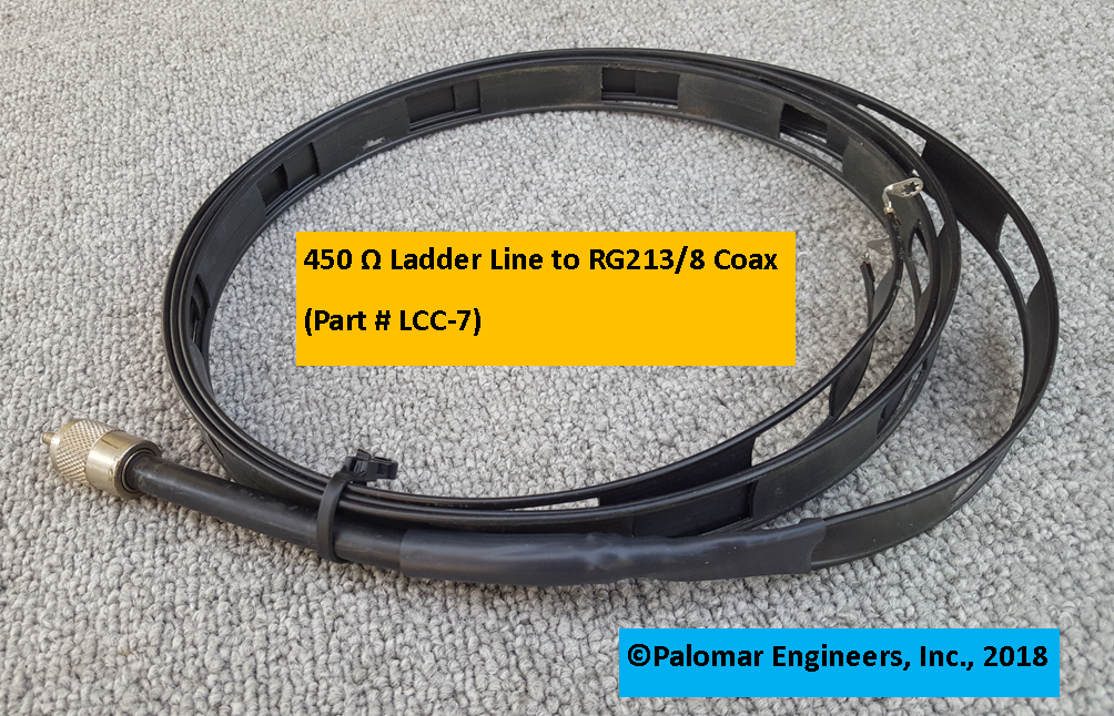 Ladder Line to Coax Interface Cable - G5RV, ZEPP, ZS6BKW, Loop Antennas LLC-7