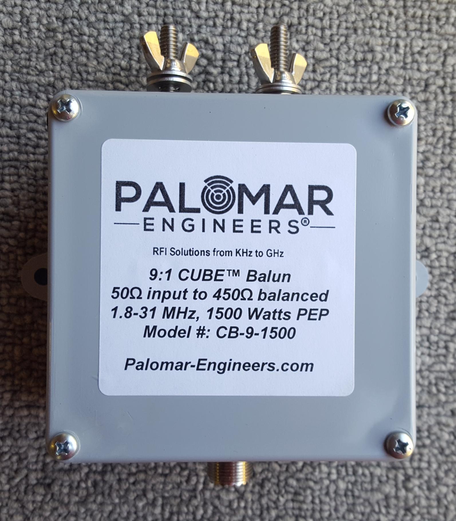 50:450 ohm (9:1) CUBE™ Balun, 1.8-31 MHz, 1.5 KW, ladder line, ZEPP, T2FD CB-9-1500