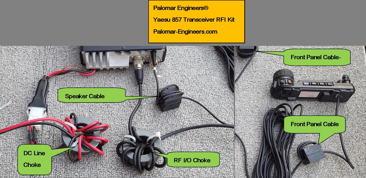 Yaesu 817/857/881/891 Transceiver RFI Kit - 5 Noise Reduction Filters RFI-YAESU-857