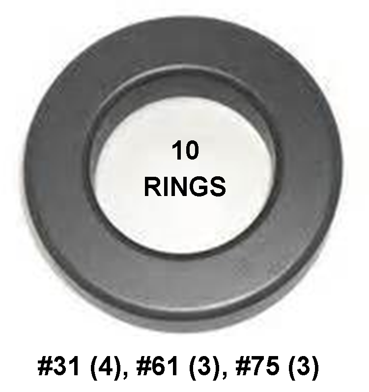 Ferrite Ring Combo Pack, FT240 - 1.4