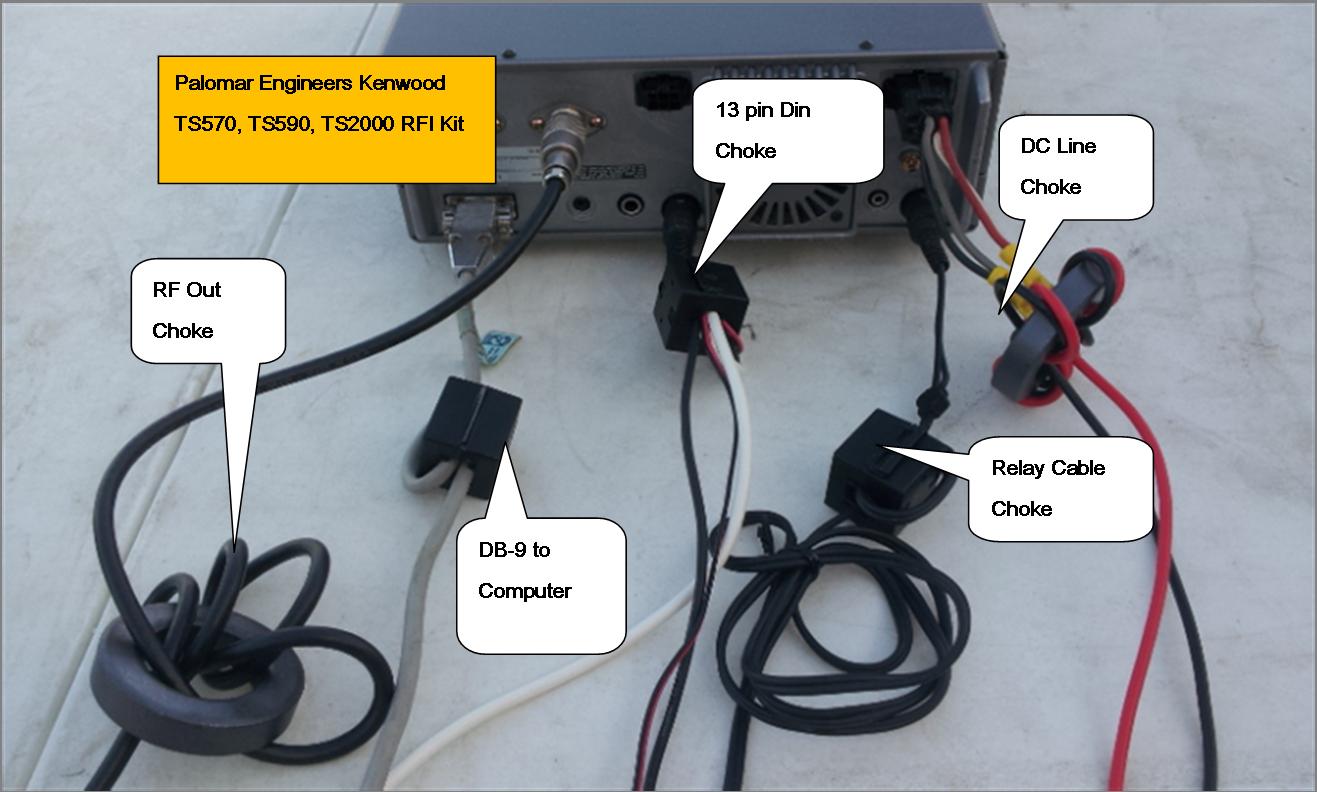 Flex Radio 1000/1500 Transceiver RFI and Noise Reduction Kit, RFI Range 1-60 Mz, 5 Filters