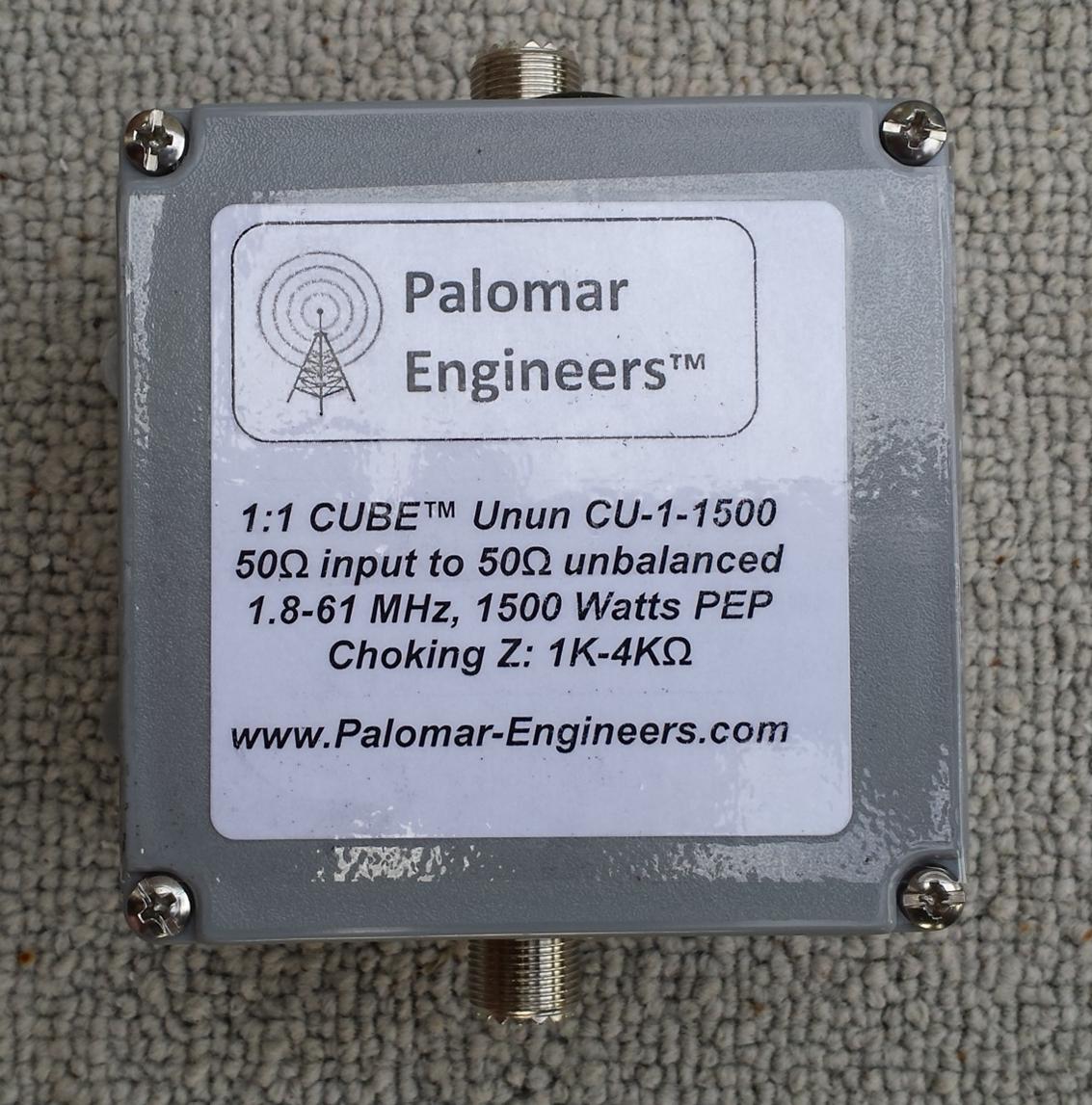 CUBE Feed Line Choke/Line Isolator Unun, 1.5KW, 1.8-61 MHz, 4K Ohms