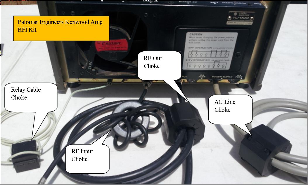 HF Linear Amplifier RFI Kit - Alpha Amps - 4 Filters