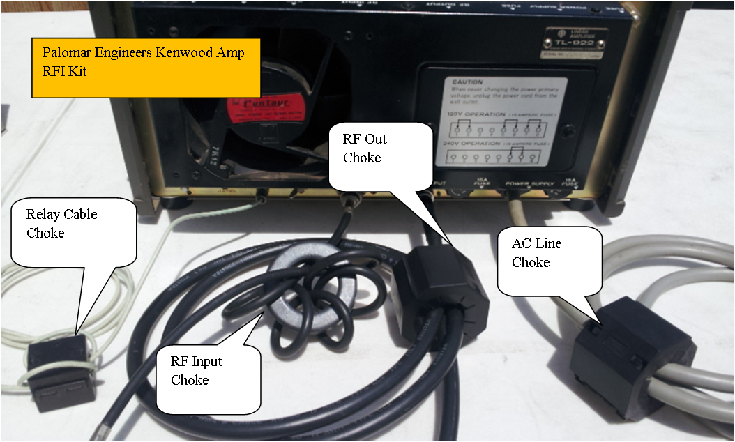 HF Linear Amplifier RFI Kit - Kenwood 922/A - 4 Filters for RF In/Out, AC Power, Relay/PTT