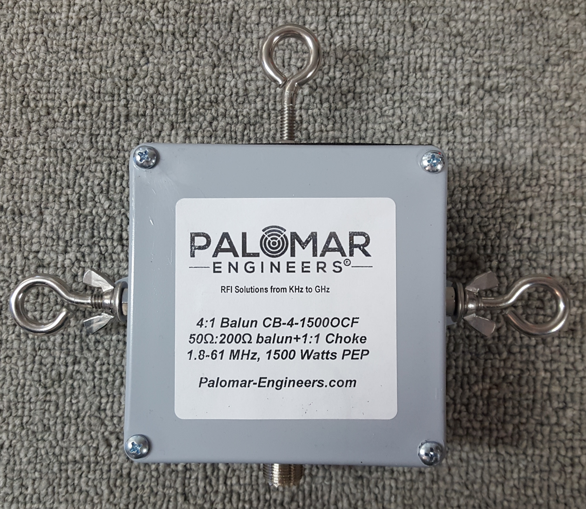Off Center Fed (OCF) 4:1 Balun and Choke Combo, 1.8-61 MHz, 1.5/3/5KW PEP Options, Loop Antennas CB-4-1500OCF
