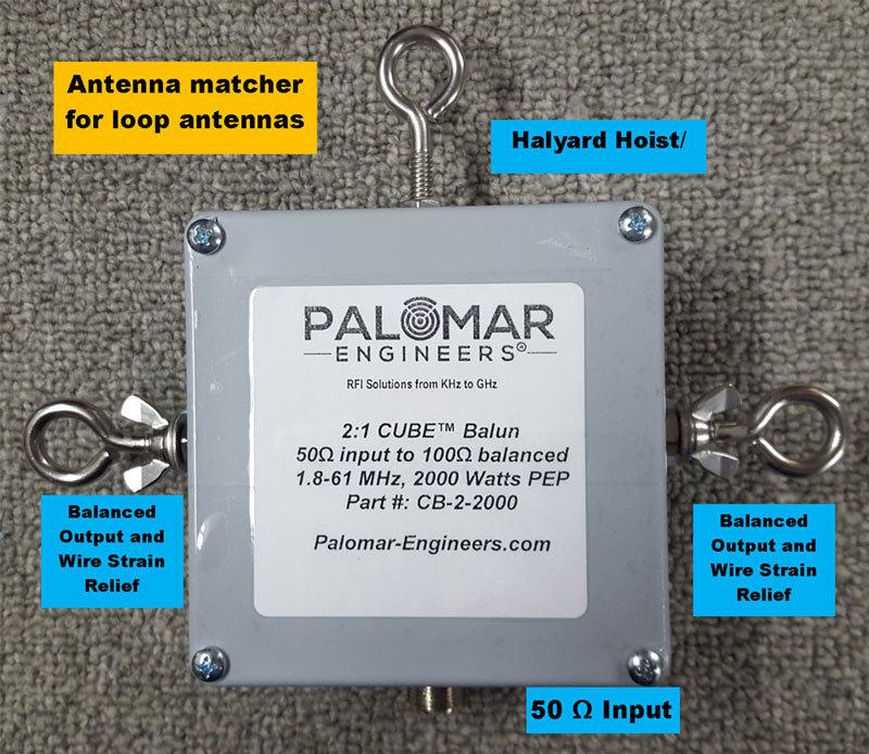 50:100 (2:1) CUBE™ Balun/Unun  1.8-61 MHz, 2KW/4KW, Loop Antennas CB-2-2000