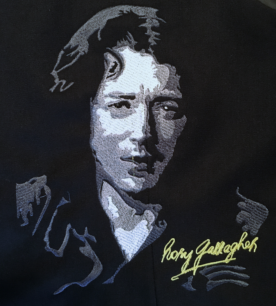 Rory Gallagher  Portrait - Digitized Embroidery Pattern