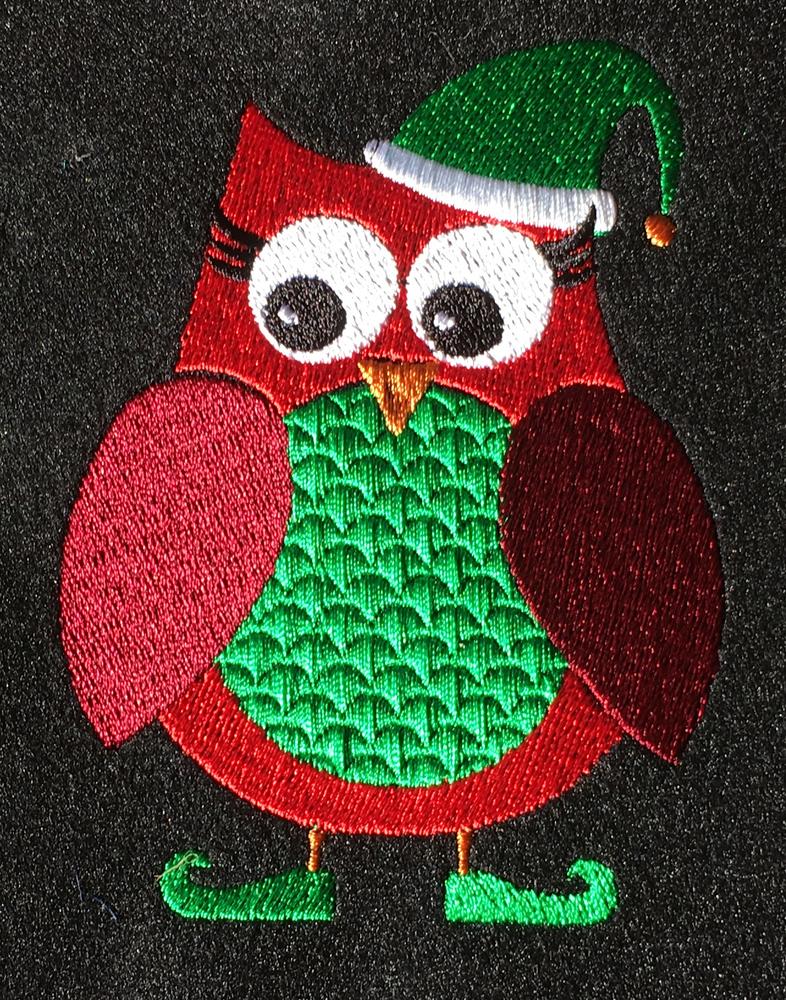 Red Christmas Owl - Digital Download