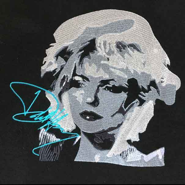 Debbie Harry Portrait - Digitized Embroidery Pattern