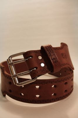 3 Inch Graber Leather Bull Belt - Deluxe
