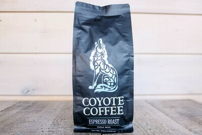Coyote Coffee Espresso Roast 12oz Whole Bean