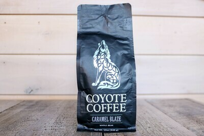Coyote Coffee Caramel Blaze (Scotch Caramel) 12oz Whole Bean