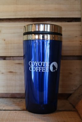 Coyote Coffee Blue Travel Tumbler