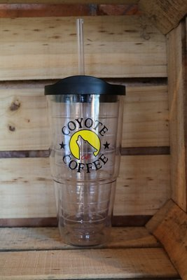 Coyote Coffee Clear Travel Tumbler
