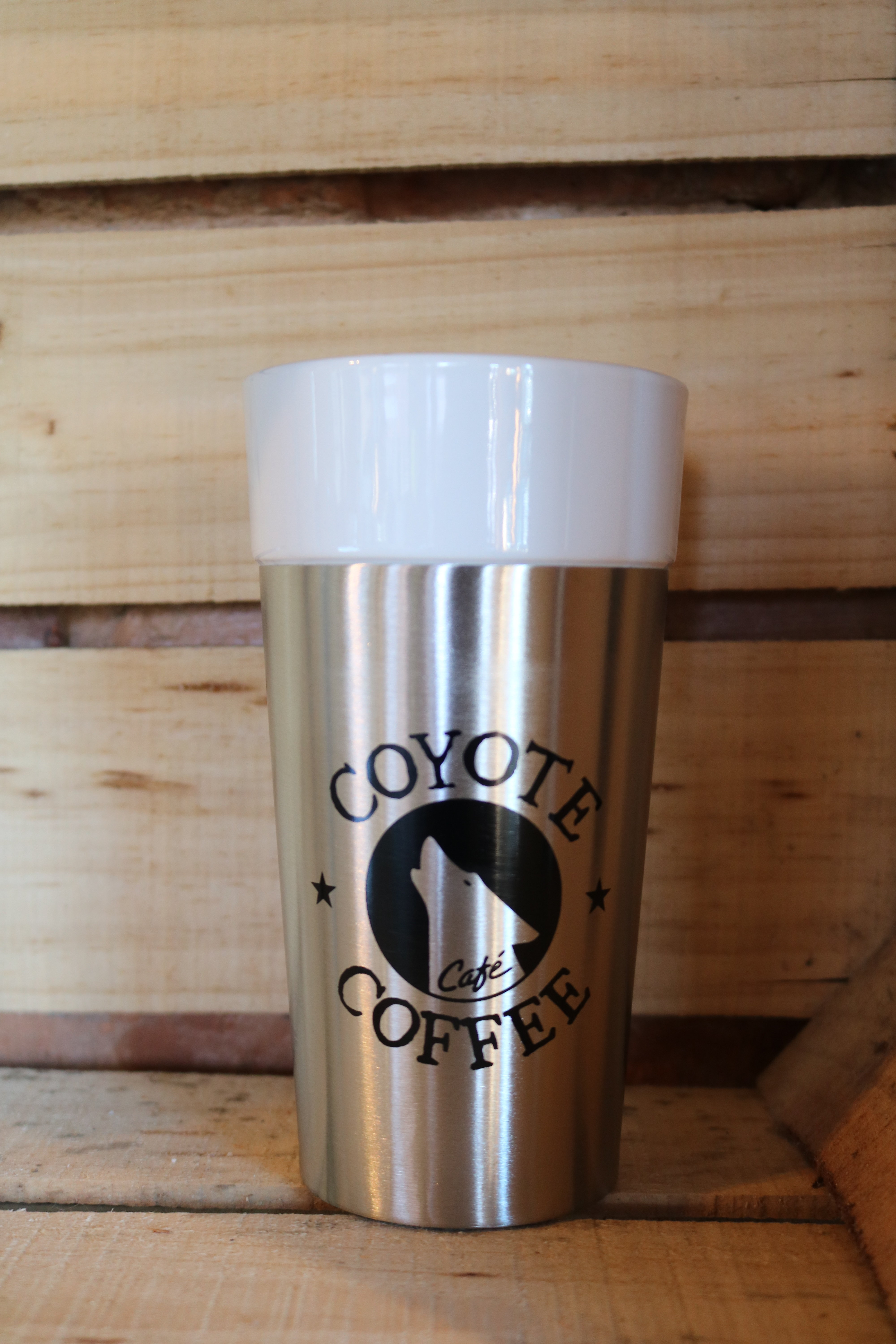 Coyote Coffee Silver Porcelain Tumbler 00003