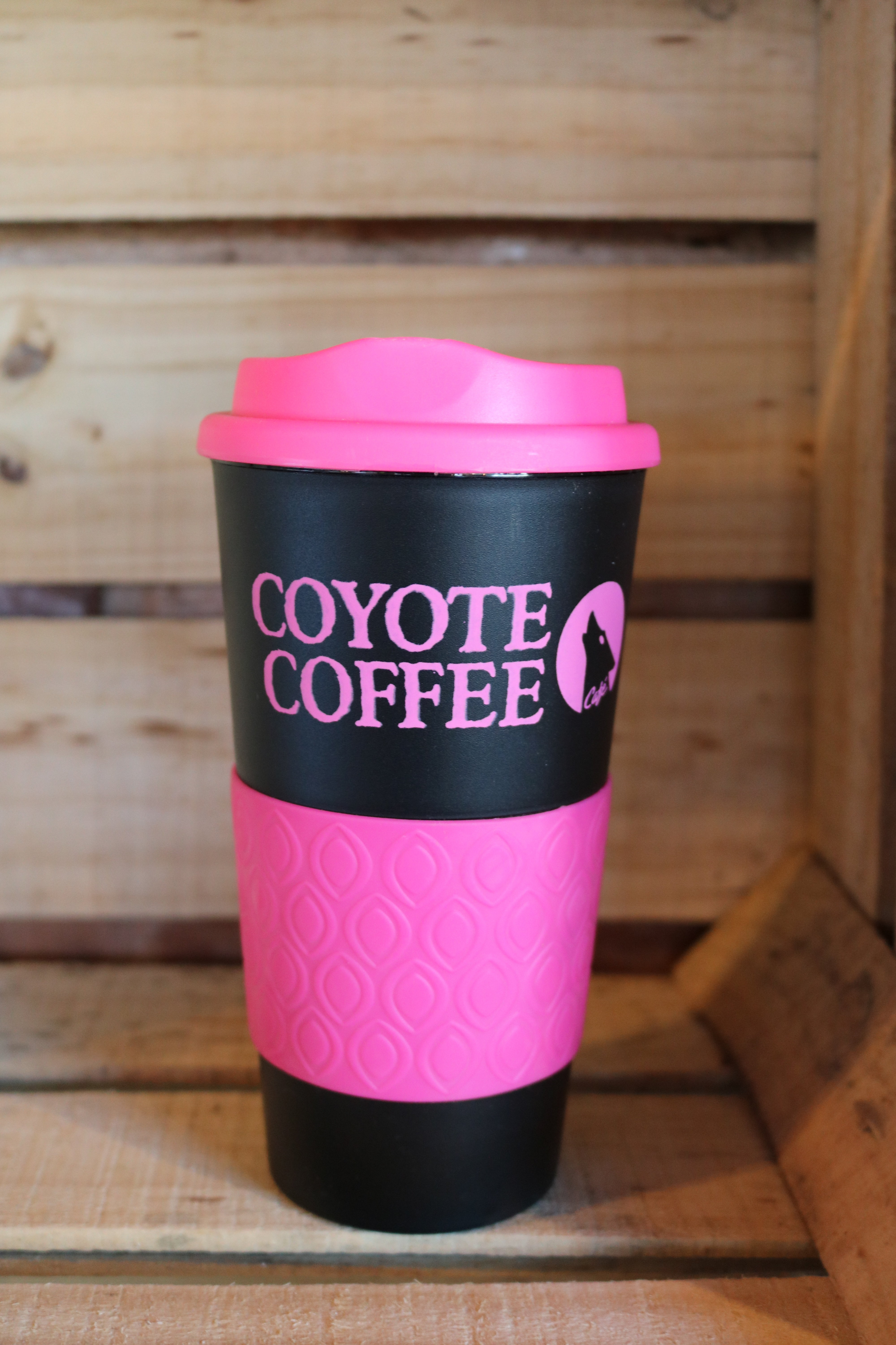 Coyote Coffee Black and Pink Tumbler 000032