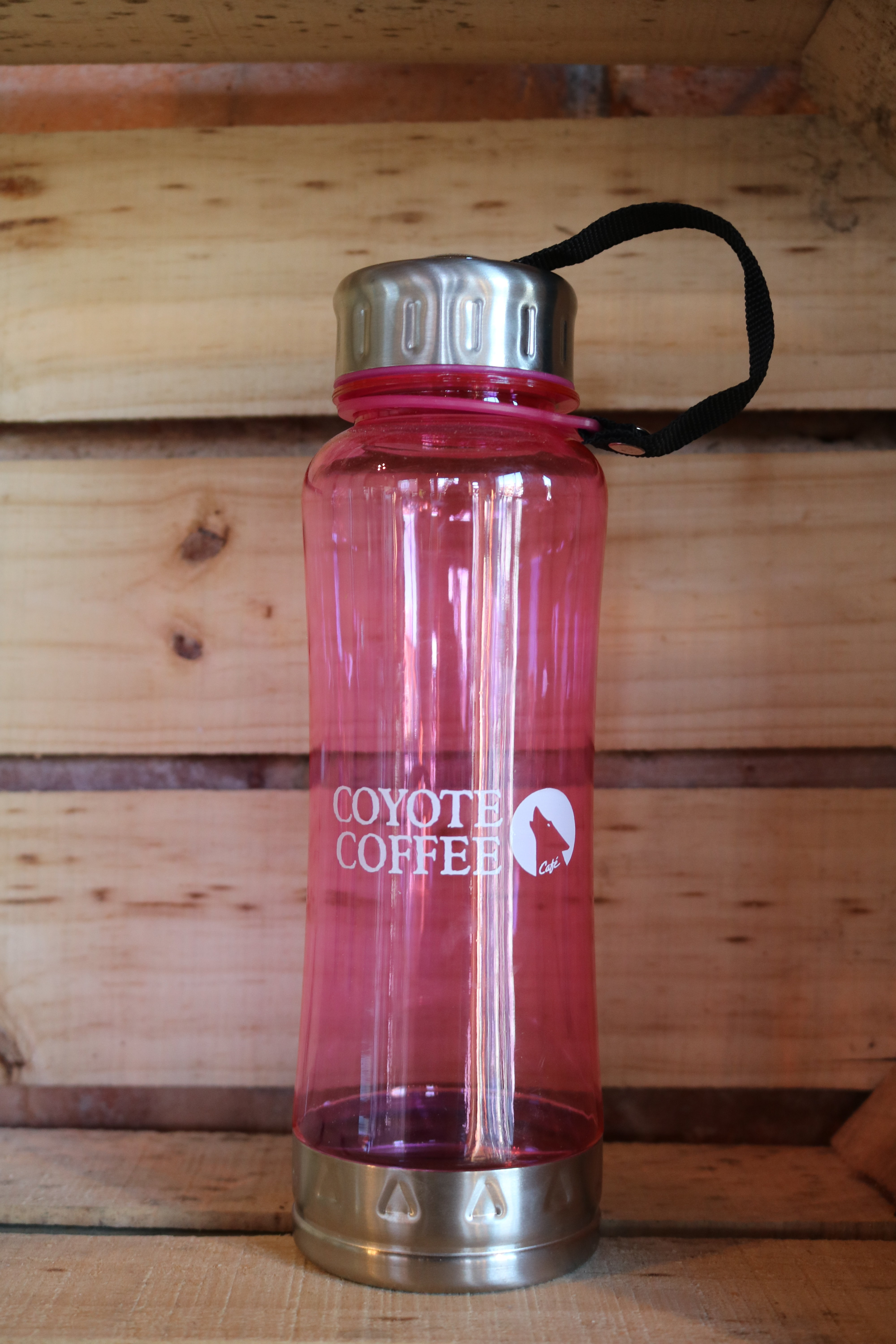 Coyote Coffee Pink Water Bottle 00022