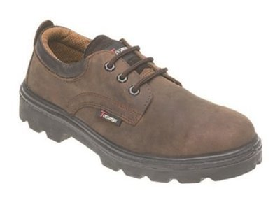 Toesavers Brown Leather 3 Eyelet Safety Shoe  41YPPBPHF