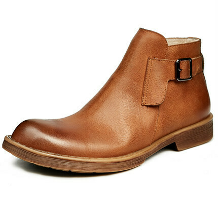Brown Formal Homme Boot with Strap