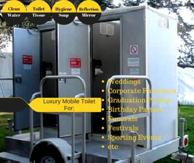 Luxury Mobile Toilet For Hire