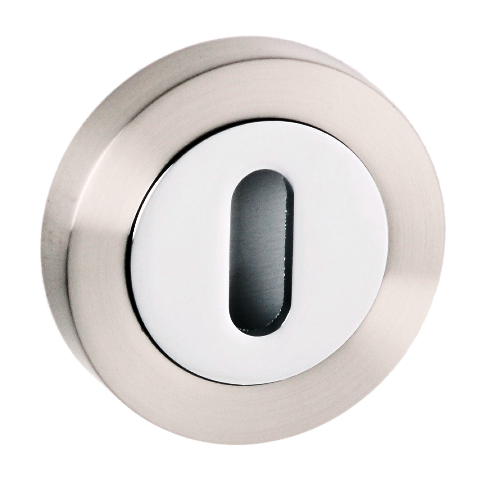 Round Standard Profile Escutcheon Available In Two Finishes