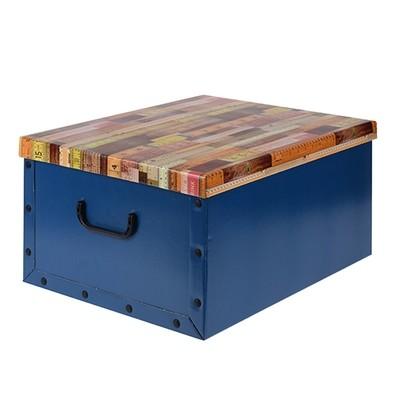 Коробка для хранения с крышкой (синяя), 49,5х39х24 см IMP_17_1