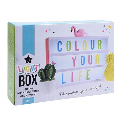 Цветной светильник-рамка LightBox A4 (лайтбокс) с буквами