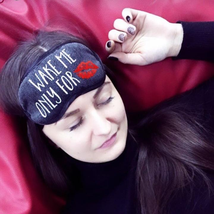 Маска для сна Wake me only for kiss