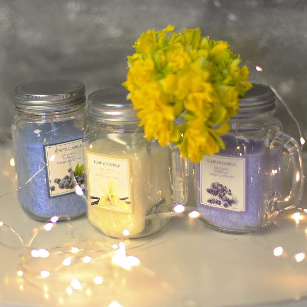 Свеча в стеклянной кружке Jar (лаванда)