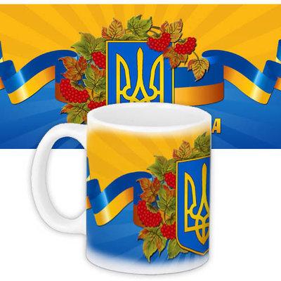 Кружка с принтом Герб Украины KR_UKR033
