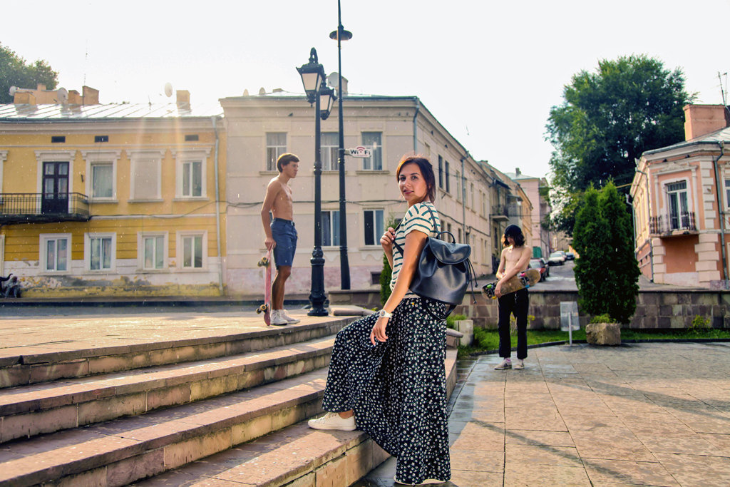 Рюкзак женский кожзам Mod MINI, цвет черный