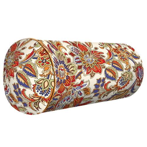 Подушка валик Цветы