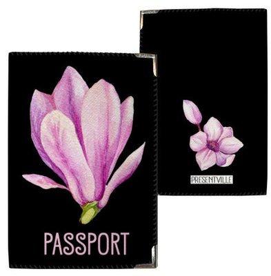 Обложка на паспорт Магнолия PD_CLF006_BL